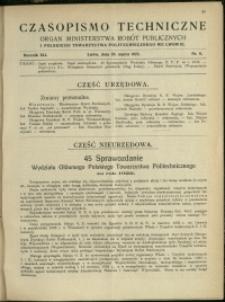 Czasopismo Techniczne : 1923 : nr 6
