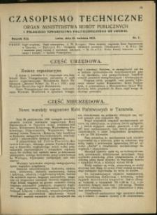 Czasopismo Techniczne : 1923 : nr 7
