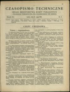 Czasopismo Techniczne : 1923 : nr 9