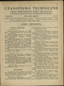 Czasopismo Techniczne : 1923 : nr 10