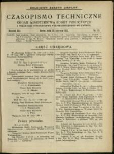 Czasopismo Techniczne : 1923 : nr 12