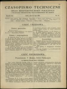Czasopismo Techniczne : 1923 : nr 13