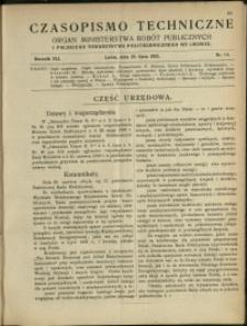 Czasopismo Techniczne : 1923 : nr 14