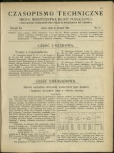 Czasopismo Techniczne : 1923 : nr 15