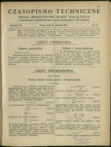Czasopismo Techniczne : 1923 : nr 16