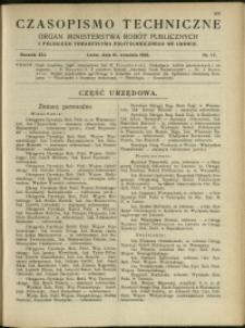 Czasopismo Techniczne : 1923 : nr 17