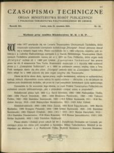 Czasopismo Techniczne : 1923 : nr 18