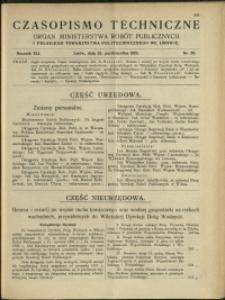 Czasopismo Techniczne : 1923 : nr 20