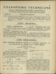 Czasopismo Techniczne : 1923 : nr 21