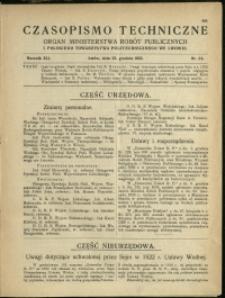 Czasopismo Techniczne : 1923 : nr 24