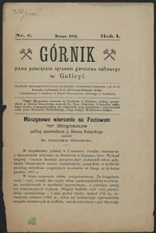 Górnik 1882 : z. 6