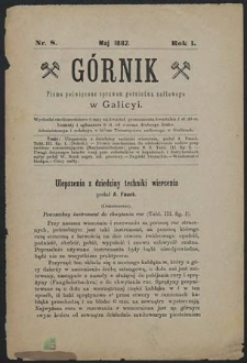 Górnik 1882 : z. 8