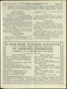 Czasopismo Techniczne : 1927 : nr 14