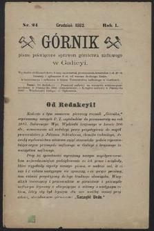 Górnik 1882 : z. 24