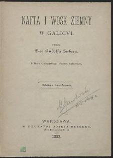 Nafta i wosk ziemny w Galicyi