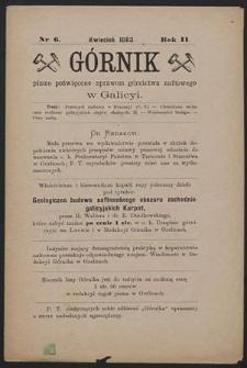 Górnik 1883 : z. 6