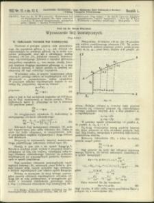 Czasopismo Techniczne : 1932 : nr 19