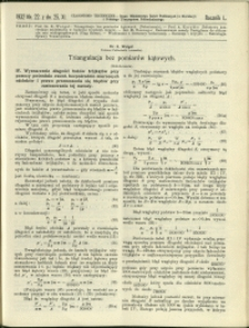 Czasopismo Techniczne : 1932 : nr 22
