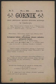 Górnik 1883 : z. 7