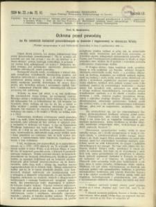 Czasopismo Techniczne : 1934 : nr 22