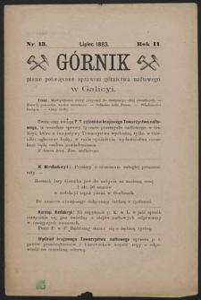 Górnik 1883 : z. 13