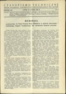 Czasopismo Techniczne : 1935 : nr 4