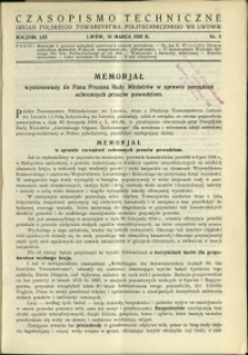 Czasopismo Techniczne : 1935 : nr 5