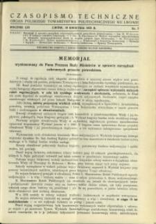 Czasopismo Techniczne : 1935 : nr 7