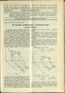 Czasopismo Techniczne : 1935 : nr 8