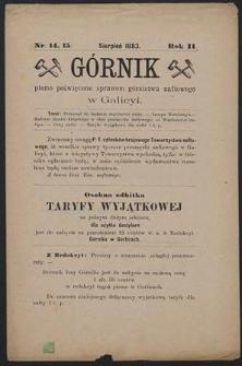 Górnik 1883 : z 14, 15