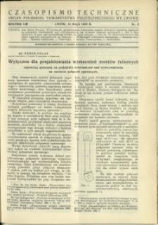 Czasopismo Techniczne : 1935 : nr 9