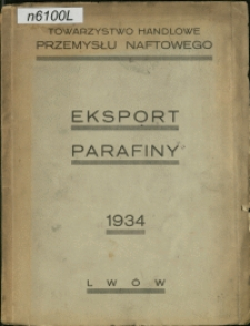Eksport parafiny 1934