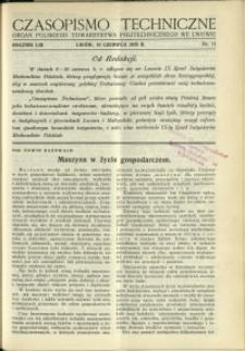 Czasopismo Techniczne : 1935 : nr 11