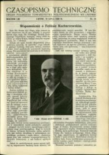 Czasopismo Techniczne : 1935 : nr 13