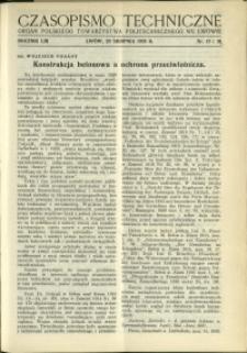 Czasopismo Techniczne : 1935 : nr 15 i 16