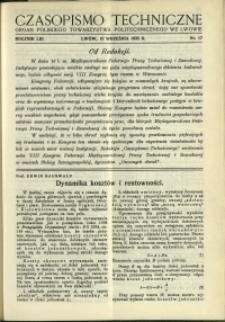 Czasopismo Techniczne : 1935 : nr 17