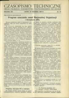 Czasopismo Techniczne : 1935 : nr 18