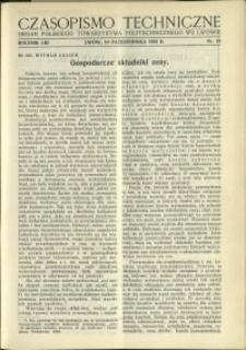 Czasopismo Techniczne : 1935 : nr 19