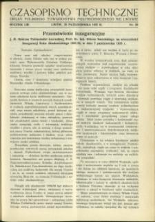 Czasopismo Techniczne : 1935 : nr 20