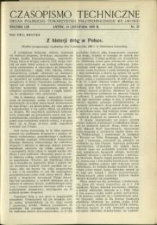 Czasopismo Techniczne : 1935 : nr 21