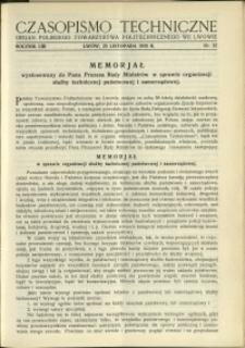 Czasopismo Techniczne : 1935 : nr 22