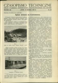 Czasopismo Techniczne : 1935 : nr 23