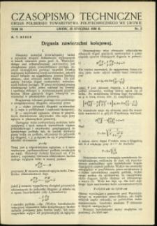 Czasopismo Techniczne : 1936 : nr 2