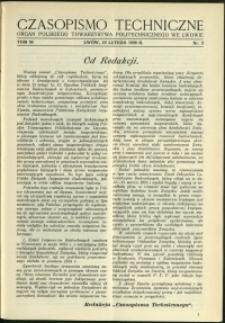 Czasopismo Techniczne : 1936 : nr 3
