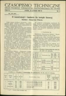 Czasopismo Techniczne : 1936 : nr 4