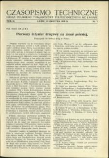 Czasopismo Techniczne : 1936 : nr 7