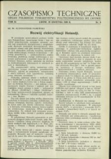 Czasopismo Techniczne : 1936 : nr 8