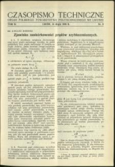 Czasopismo Techniczne : 1936 : nr 9