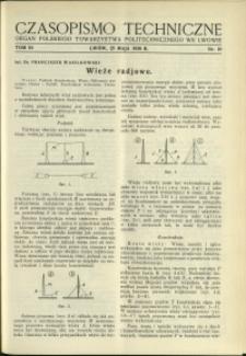 Czasopismo Techniczne : 1936 : nr 10