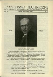 Czasopismo Techniczne : 1936 : nr 11